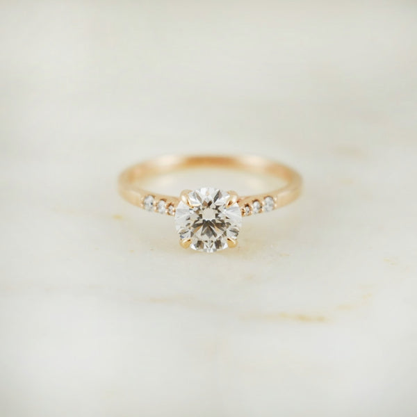 Sofia Rose Gold 1ct Diamond Foundry Diamond Ring