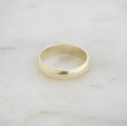 Gold Half Round Wedding Band