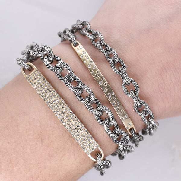 Scattered Diamond Bar Wrap Bracelet