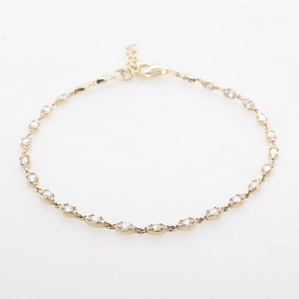 Oval Diamond Tennis Bracelet