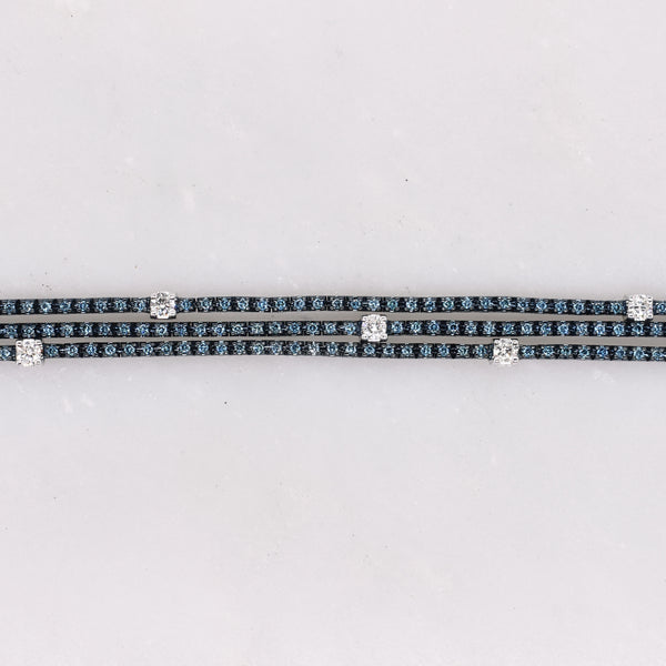 Blue Diamond Galaxy Tennis Bracelet