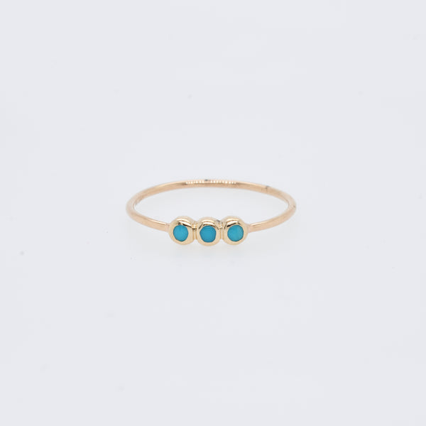 Triple Turquoise Stack Ring