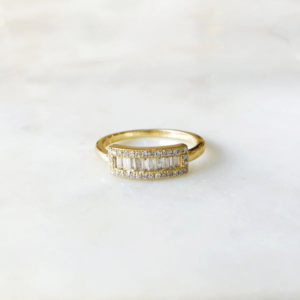 Rectangle Baguette Diamond Ring