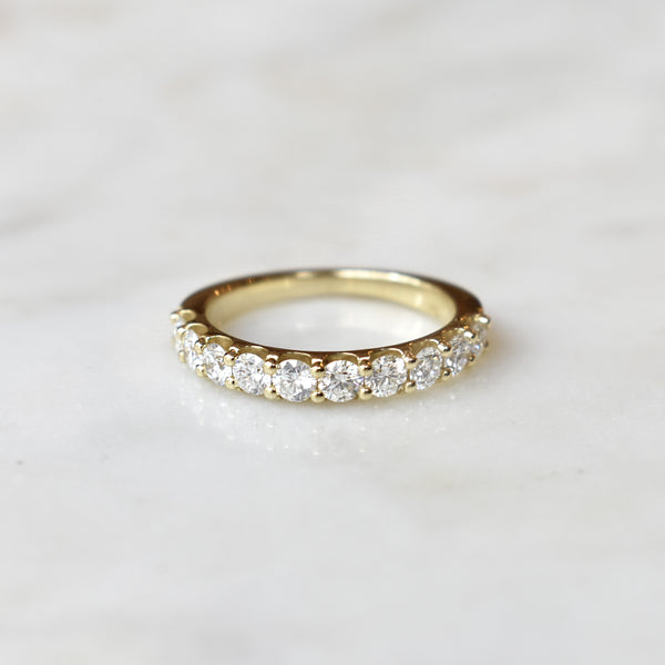 Yellow Gold 3mm half eternity band