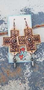 Peyote Cross Earrings