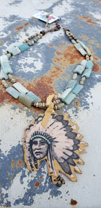 Indian Chief Jasper Necklace