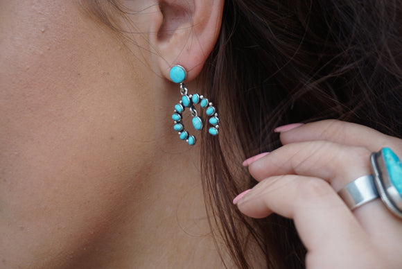 Turquoise Naja Dangle Earrings