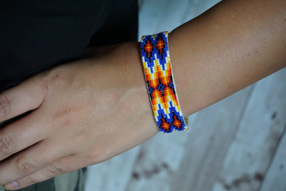 Beaded Narrow Cuff #2