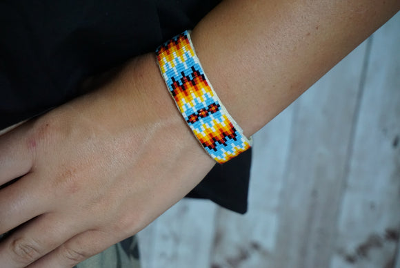 Beaded Narrow Cuff #1