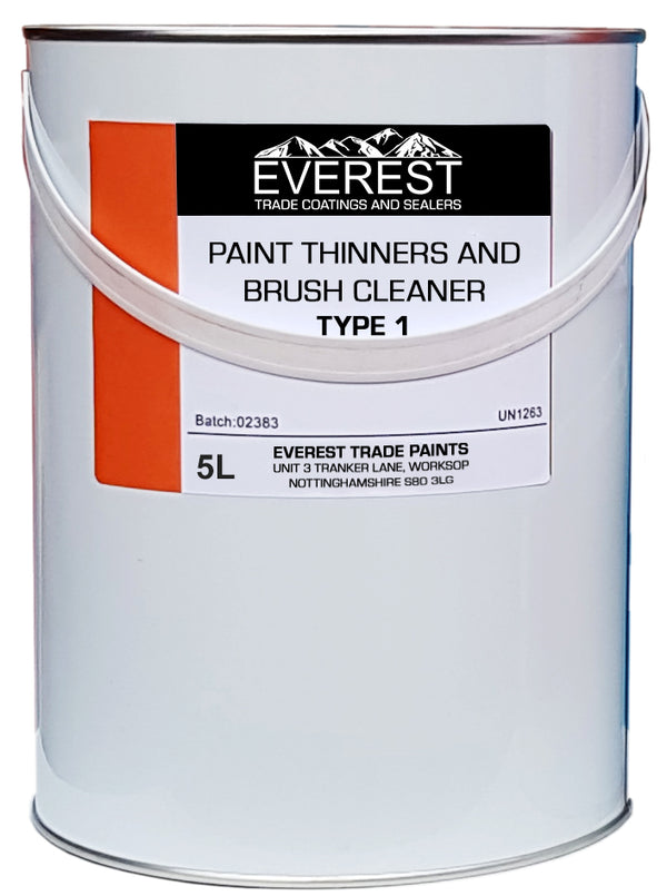 Everest Trade - Paint Thinners and Brush Cleaner - Type 1 - Multiple Sizes