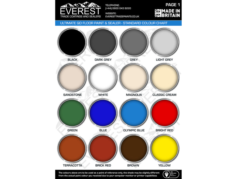 Everest Trade - Ultimate QD Concrete Floor Paint & Sealer - Internal & External - Anti-Slip