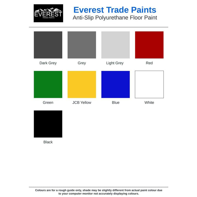 Everest Trade - High Build Polyurethane (PU) Resin Based Garage Floor Paint - Anti-Slip - PremiumPaints