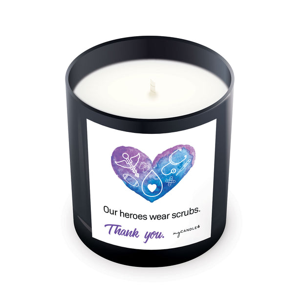 Our Heroes Wear Scrubs - 11oz Candle