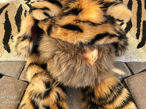 A Star Trek App-enabled Tribble dressed as a tiger - Science Division