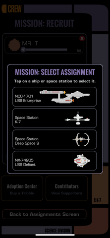 Section K-7 Choose Ship