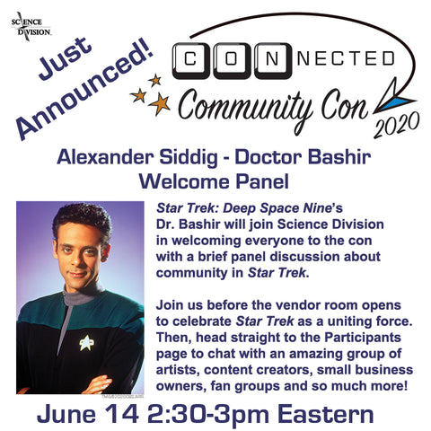CONnected Con panel announcement for Alexander Siddig