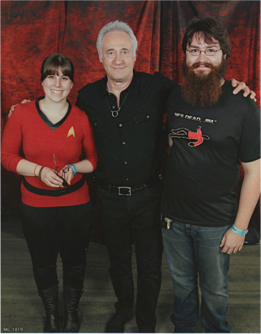 Jay and Kayleigha of Science Division with Brent Spiner at a Star Trek convention