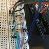 Wires in a breadboard