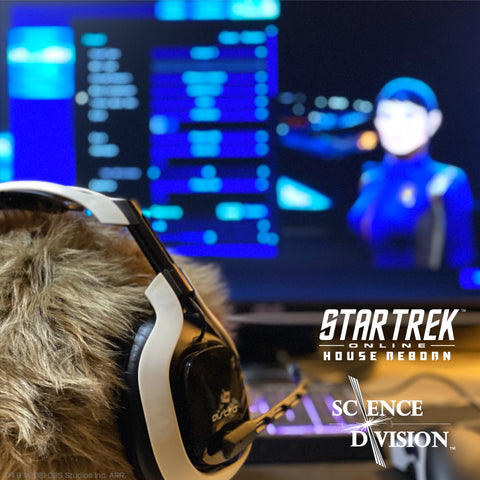 A Star Trek App-enabled Tribble by Science Division playing Star Trek Online