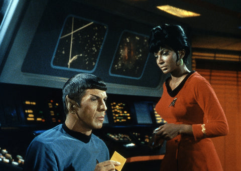 Lt. Uhura with Mr. Spock