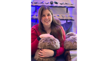 Load image into Gallery viewer, Kayleigha with a Star Trek App-enabled Tribble - Science Division