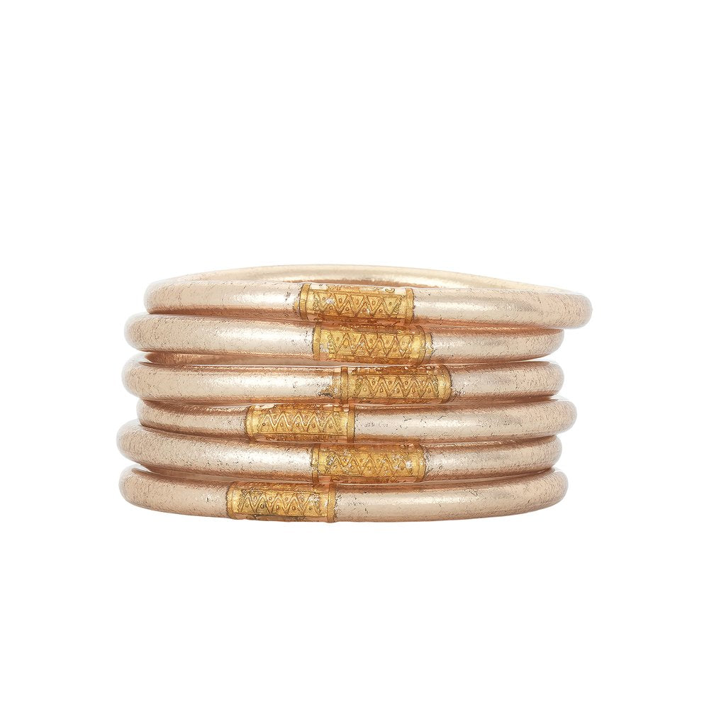 BuDhaGirl All Weather Bangles Champagne Set of 6