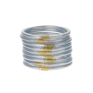 BuDhaGirl All Weather Bangles Silver Set of 9