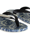 Blue Leather Shoes Majolica Flip Flops