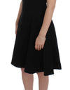 Black Stretch A-Line Shift Crystal Dress - xanders-shopping