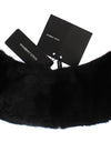 Black Mink Fur Shoulder Collar Scarf