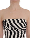 Black White Striped Silk Stretch Dress - xanders-shopping