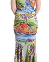 Multicolor Silk Stretch Portofino Sheath Dress - xanders-shopping