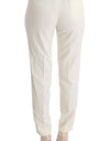 White Cotton Regular Fit Casual Pants - xanders-shopping