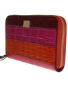 Multicolor Caiman Crocodile Leather Continental Wallet
