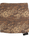 Brown Tiger Square Silk Scarf
