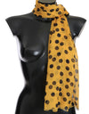 Yellow Black Polka Dotted Scarf - xanders-shopping