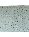 Blue Black Polka Dotted Silk Scarf