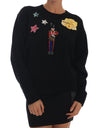 Fairy Tale Crystal Black Cashmere Sweater - xanders-shopping