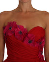 Dress  Pink Tulle Floral Application Bustier