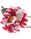 Dolce & Gabbana Red Checkered Flower Cotton Brooch - xanders-shopping