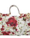 White MISS SICILY Floral Leather Shoulder Purse