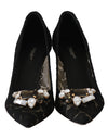 Dolce & Gabbana Black Lace Bellucci Crystal Pumps - xanders-shopping