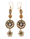 Dolce & Gabbana Crystal Gold Cart Wheel Pupi Doll Dangling Hook Earring - xanders-shopping
