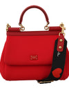 Red MISS SICILY Neoprene Heart Leather Shoulder HandBag