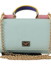 Sicily VON Blue Pink Leather Hand Borse Purse