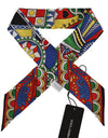 Multicolor Carretto Silk Shawl Necktie Scarf