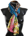 Multicolor MIAMI USA Print Cotton Scarf