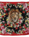 Lion Multicolor Square Silk Wrap Floral Scarf