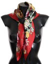Lion Multicolor Square Silk Wrap Scarf