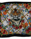 Multicolor Square Silk Tiger Floral Scarf